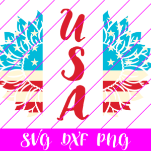USA Sunflower 4th of July SVG