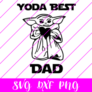 yoda best dad svg