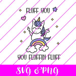 fluff you unicorn svg