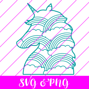 RAINBOW UNICORN SVG