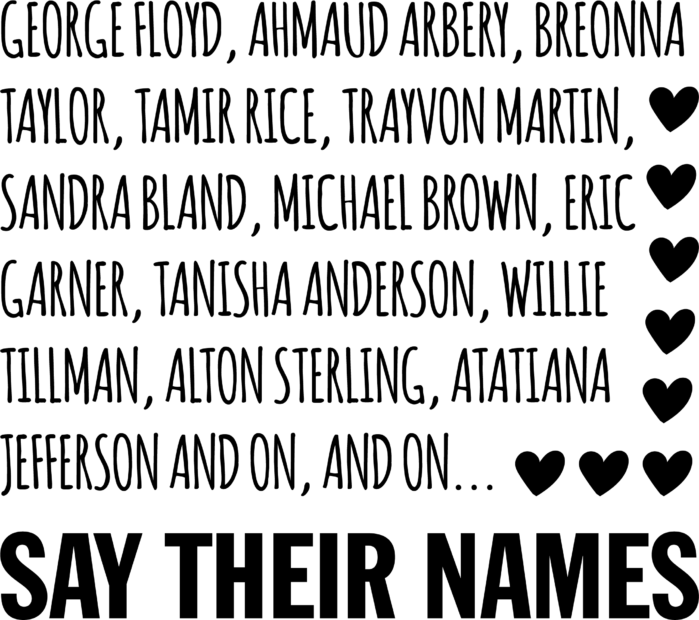 Say Their Names Svg Free Say Their Names Svg Download Blm Svg Svg Art