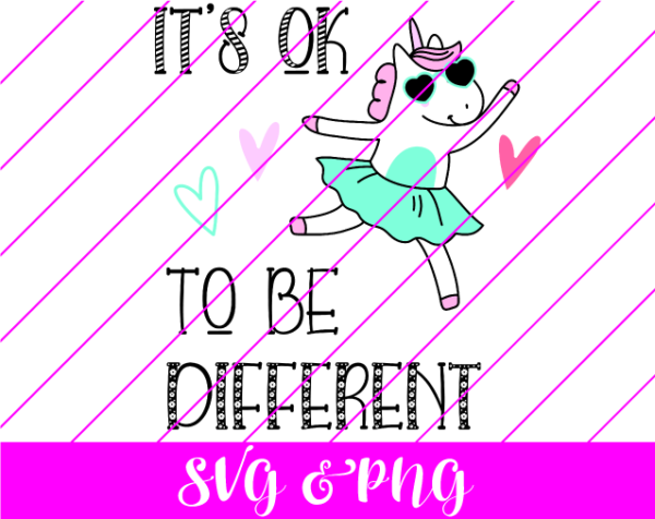 Unicorn It's Ok to be Different Svg