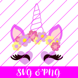 Unicorn Lashes SVG