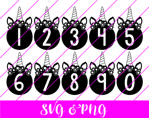 Unicorn Numbers SVG