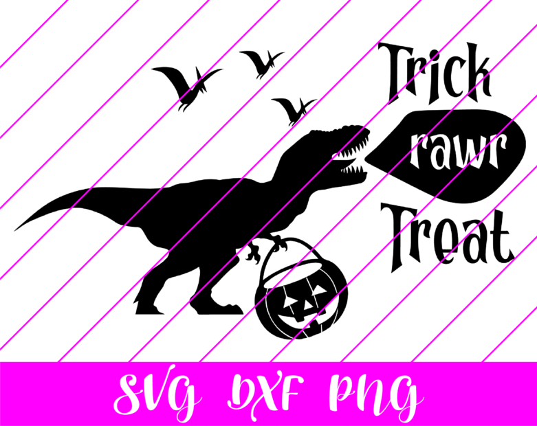 dinosaur trick rawr treat svg