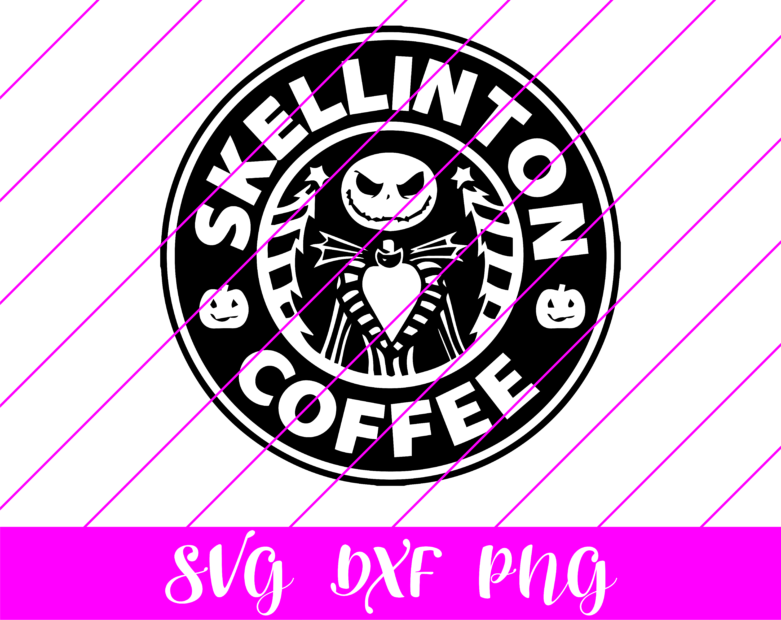 skellington coffee starbucks logo svg