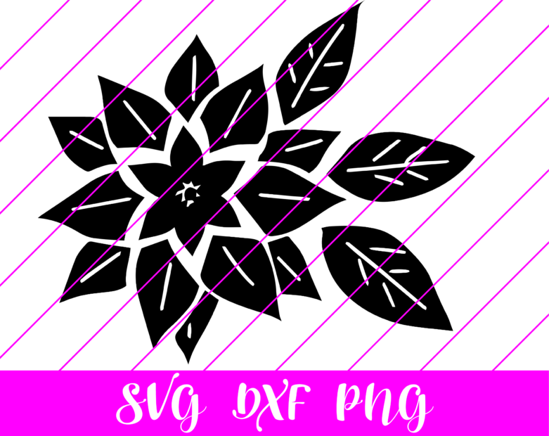 Poinsettia svg