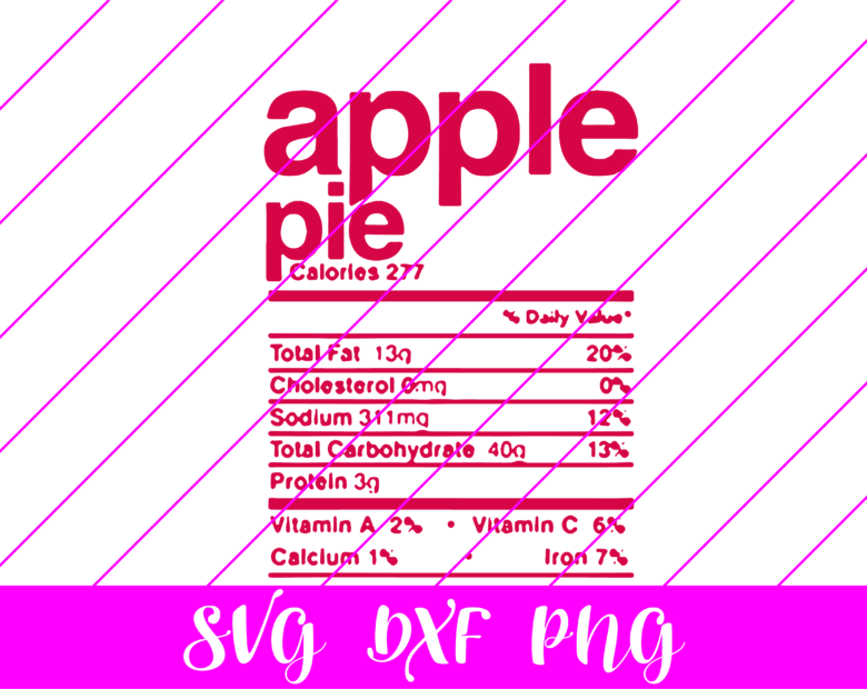 thanksgiving nutrition facts apple pie