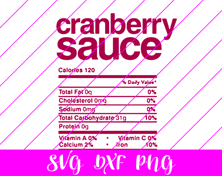 thanksgiving nutrition facts cranberry sauce