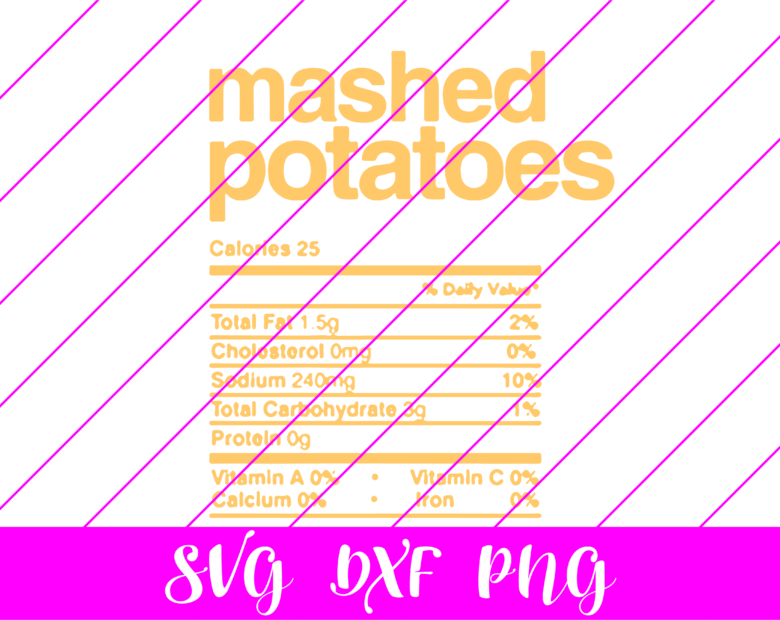 thanksgiving nutrition facts mashed potatoes