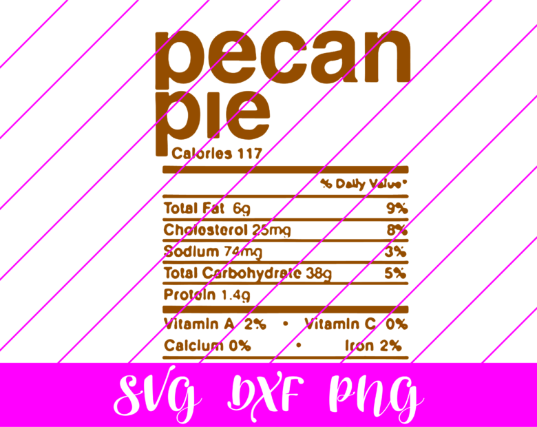 thanksgiving nutrition facts pecan pie