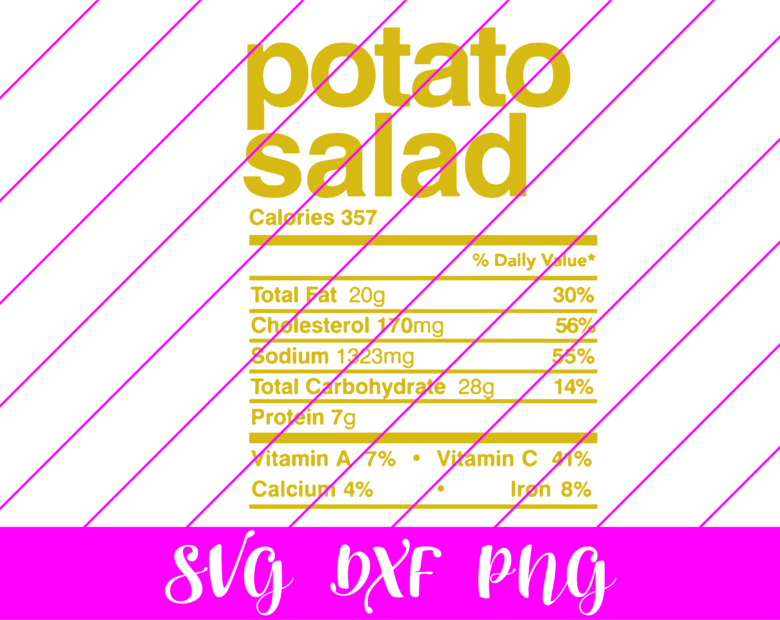thanksgiving nutrition facts potato salad