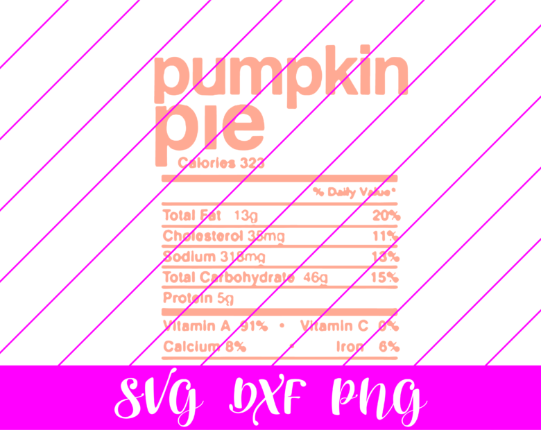 thanksgiving nutrition facts pumpkin pie