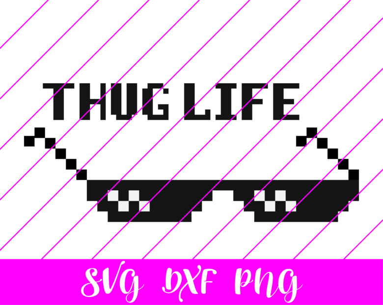 thug life pixel glasses svg