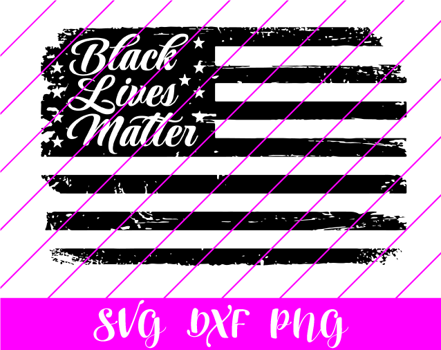 black lives matter usa flag svg