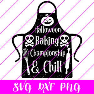 halloween baking championship and chill svg