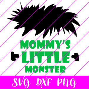 mommys little monster svg